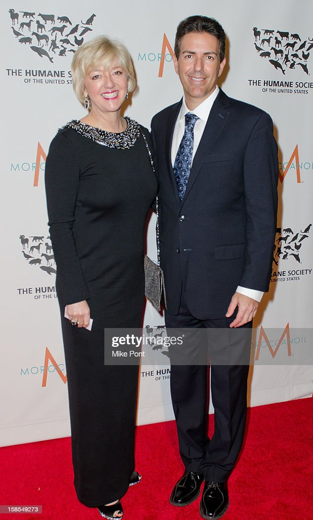 Cathy Kangas and President of The Humane Society of the United States Wayne Pacelle attend The Humane Society of the United States presents the To The Rescue! gala benefiting post hurricane Sandy efforts at Cipriani 42nd Street on December 18, 2012 in New York City.