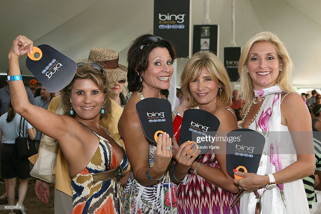 Cathy Konner, Ro Boni, Cheri Schmidt and Carol Liva attend the closing day of the Mercedes-Benz Polo Challenge celebrated by Hamptons Magazine and BING at the BH Polo Club on August 22, 2009 in Bridgehampton, New York.
