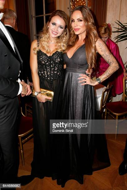Cathy Lugner and GinaLisa Lohfink during the Opera Ball Vienna at Vienna State Opera on February 23 2017 in Vienna Austria