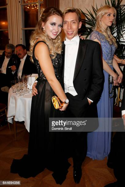 Cathy Lugner and Helmut Werner during the Opera Ball Vienna at Vienna State Opera on February 23 2017 in Vienna Austria