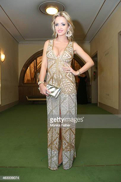 Cathy Lugner attends the traditional Opera Ball Vienna at State Opera Vienna on February 12 2015 in Vienna Austria