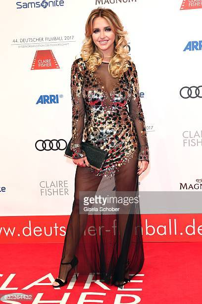 Cathy Lugner 'Spatzi' former wife of Richard Lugner during the 44th German Film Ball 2017 arrival at Hotel Bayerischer Hof on January 21 2017 in...