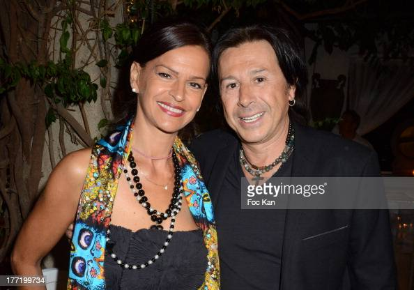Cathy Martin and Vincent Martin from Tsar Club attend the Massimo Gargia's Birthday Dinner at Moulins de Ramatuelle on August 21 2013 in Saint Tropez...