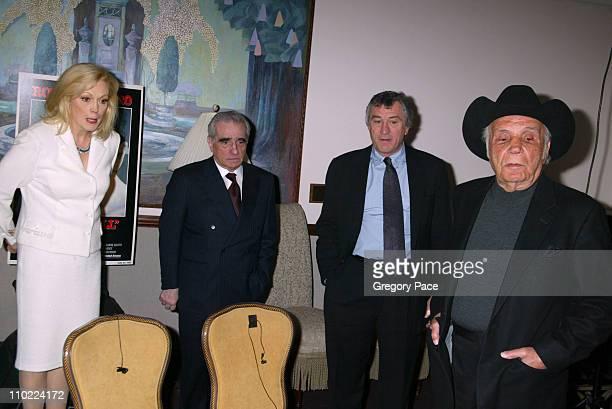 Cathy Moriarty Martin Scorsese Robert De Niro and Jake LaMotta