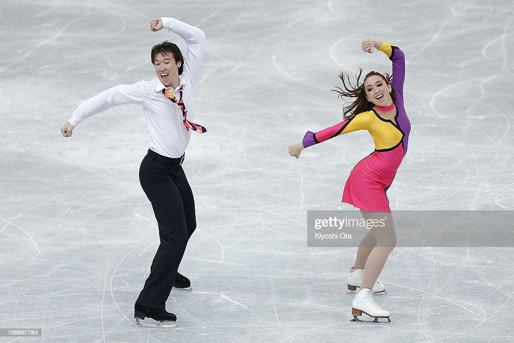 <a gi-track='captionPersonalityLinkClicked' href=/galleries/search?phrase=Cathy+Reed&family=editorial&specificpeople=4142356 ng-click='$event.stopPropagation()'>Cathy Reed</a> and Chris Reed of Japan compete in the Ice Dance Free Dance during day two of the ISU Grand Prix of Figure Skating NHK Trophy at Sekisui Heim Super Arena on November 24, 2012 in Rifu, Japan.