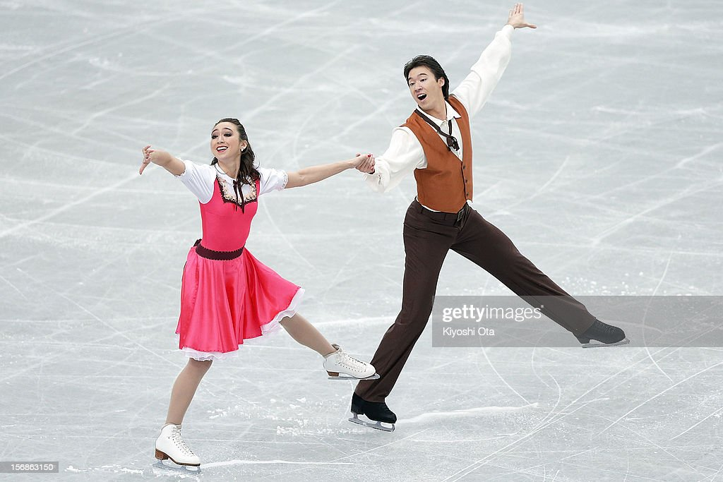 Cathy Reed and Chris Reed of Japan compete in the Ice Dance Short Dance during day one of the ISU Grand Prix of Figure Skating NHK Trophy at Sekisui Heim Super Arena on November 23, 2012 in Rifu, Japan.