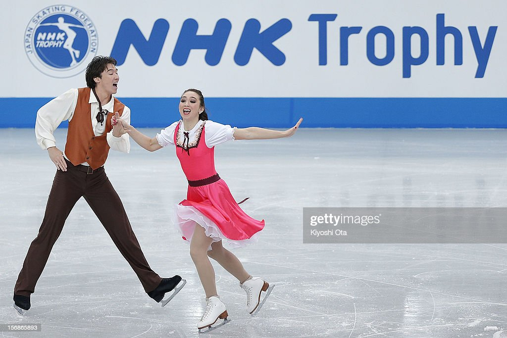 <a gi-track='captionPersonalityLinkClicked' href=/galleries/search?phrase=Cathy+Reed&family=editorial&specificpeople=4142356 ng-click='$event.stopPropagation()'>Cathy Reed</a> and Chris Reed of Japan compete in the Ice Dance Short Dance during day one of the ISU Grand Prix of Figure Skating NHK Trophy at Sekisui Heim Super Arena on November 23, 2012 in Rifu, Japan.
