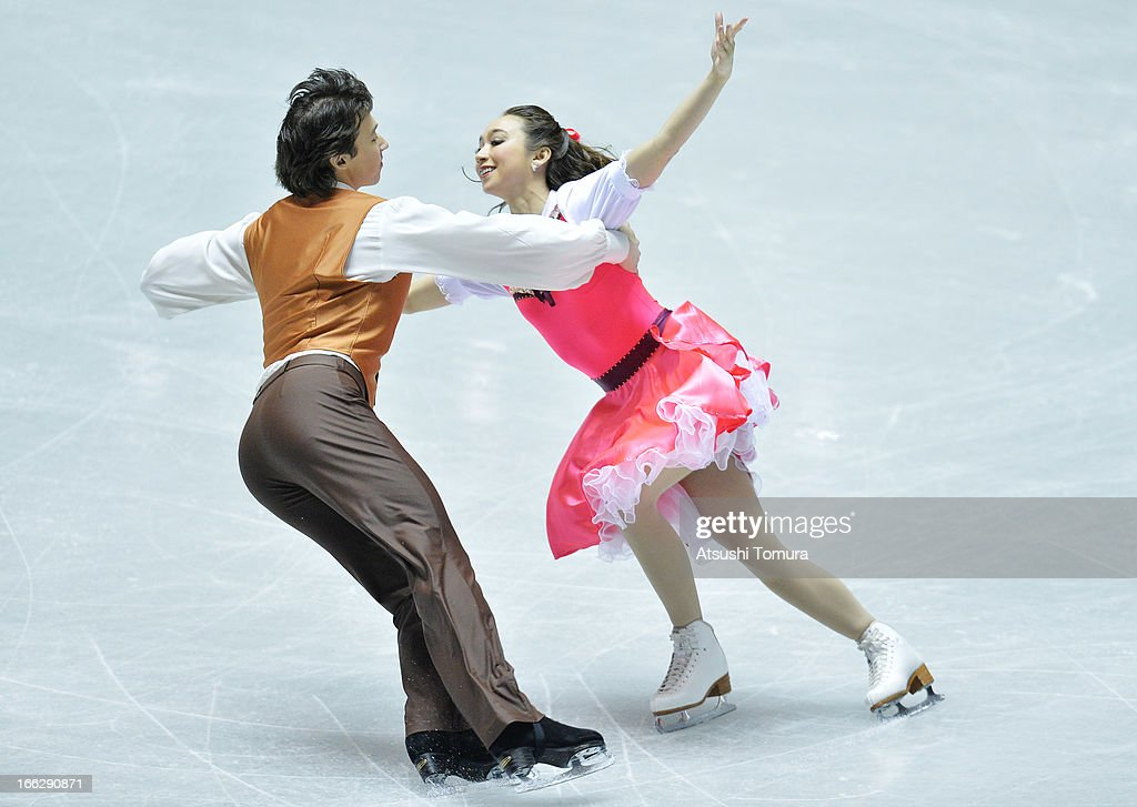 Cathy Reed and Chris Reed of Japan compete in the ice dance short dance during day one of the ISU World Team Trophy at Yoyogi National Gymnasium on April 11, 2013 in Tokyo, Japan.