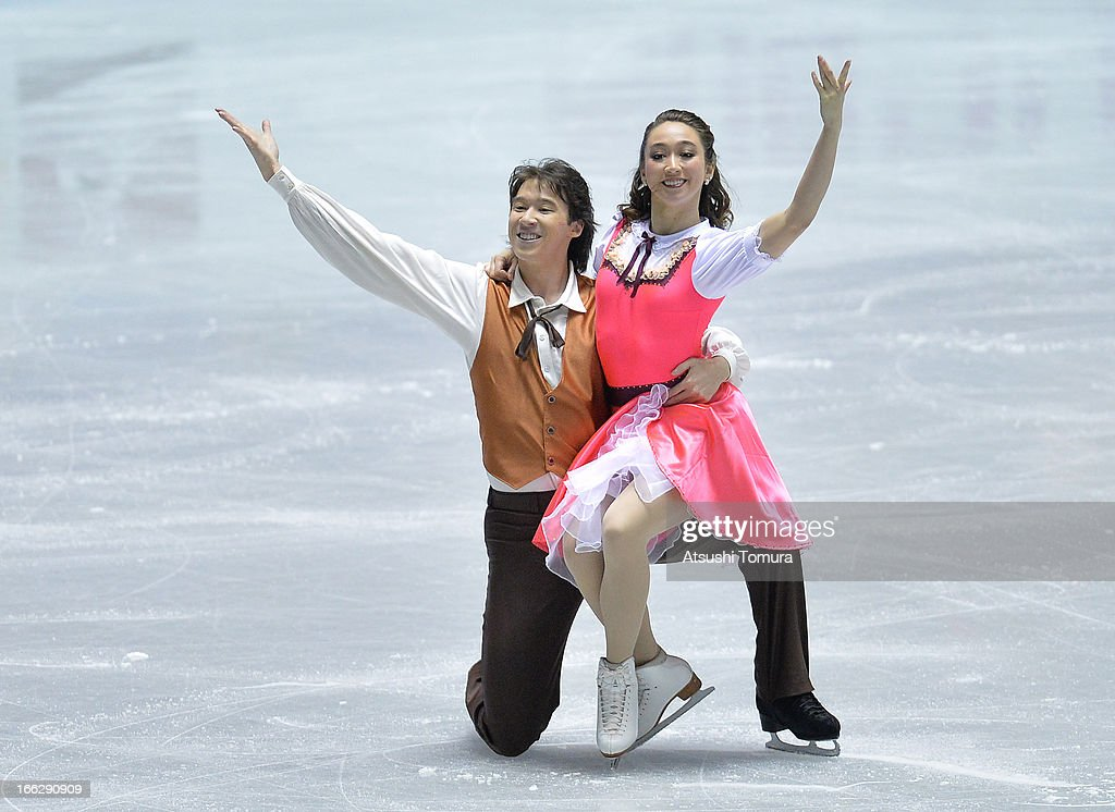 <a gi-track='captionPersonalityLinkClicked' href=/galleries/search?phrase=Cathy+Reed&family=editorial&specificpeople=4142356 ng-click='$event.stopPropagation()'>Cathy Reed</a> and Chris Reed of Japan compete in the ice dance short dance during day one of the ISU World Team Trophy at Yoyogi National Gymnasium on April 11, 2013 in Tokyo, Japan.