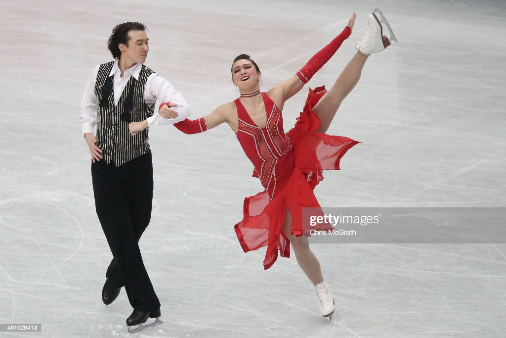 <a gi-track='captionPersonalityLinkClicked' href=/galleries/search?phrase=Cathy+Reed&family=editorial&specificpeople=4142356 ng-click='$event.stopPropagation()'>Cathy Reed</a> and Chris Reed of Japan compete in the Ice Dance Short Dance during ISU World Figure Skating Championships at Saitama Super Arena on March 28, 2014 in Saitama, Japan.