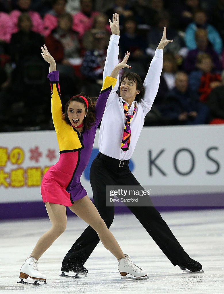 <a gi-track='captionPersonalityLinkClicked' href=/galleries/search?phrase=Cathy+Reed&family=editorial&specificpeople=4142356 ng-click='$event.stopPropagation()'>Cathy Reed</a> (L) and Chris Reed of Japan skate in the Ice Dance Free Dance Program during the 2013 ISU World Figure Skating Championships at Budweiser Gardens on March 16, 2013 in London, Ontario, Canada.