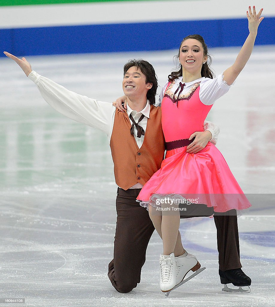 <a gi-track='captionPersonalityLinkClicked' href=/galleries/search?phrase=Cathy+Reed&family=editorial&specificpeople=4142356 ng-click='$event.stopPropagation()'>Cathy Reed</a> and Chris Reed of Japan skate in the Ice Dance Short Dance during day one of the ISU Four Continents Figure Skating Championships at Osaka Municipal Central Gymnasium on February 8, 2013 in Osaka, Japan.