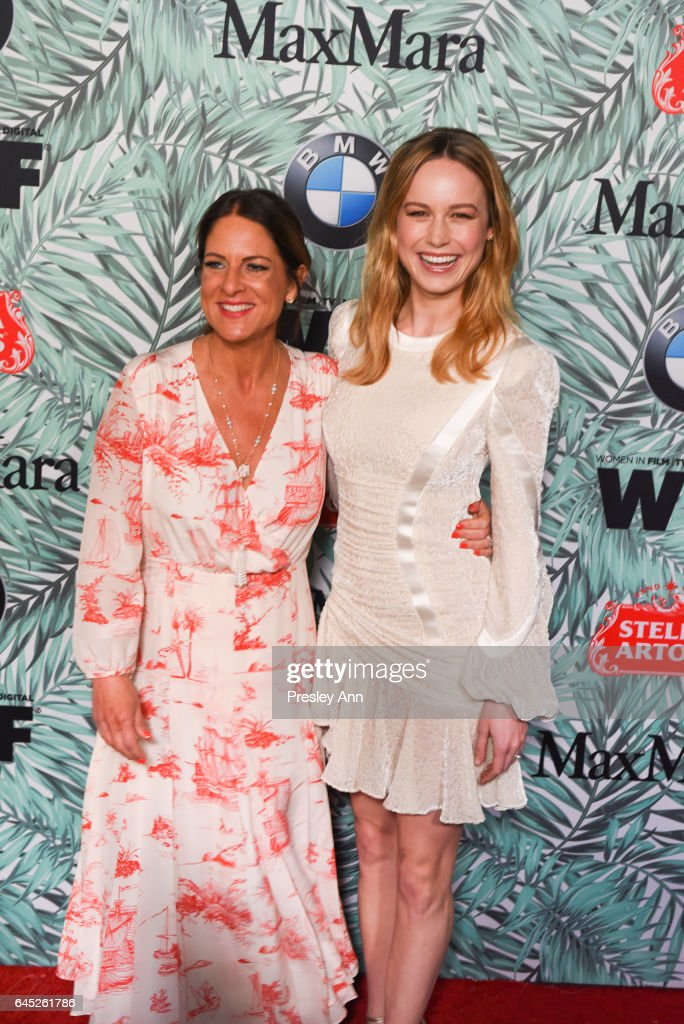 Cathy Schulman and Brie Larson attend the 10th Annual Women In Film Pre-Oscar Cocktail Party - Arrivals at Nightingale Plaza on February 24, 2017 in Los Angeles, California.
