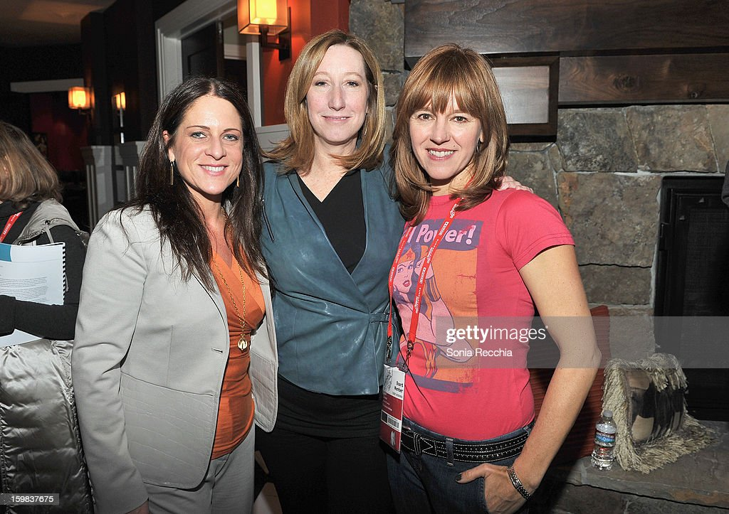 <a gi-track='captionPersonalityLinkClicked' href=/galleries/search?phrase=Cathy+Schulman&family=editorial&specificpeople=677977 ng-click='$event.stopPropagation()'>Cathy Schulman</a>, President of Women In Film, <a gi-track='captionPersonalityLinkClicked' href=/galleries/search?phrase=Keri+Putnam&family=editorial&specificpeople=226879 ng-click='$event.stopPropagation()'>Keri Putnam</a>, Sundance Institute Executive Director and Jackie Zehner attend the Women at Sundance Brunch during the 2013 Sundance Film Festival on January 21, 2013 in Park City, Utah.