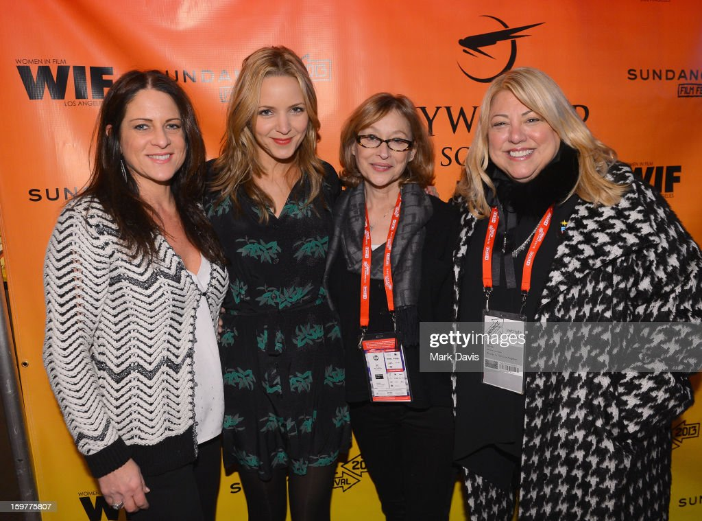 Cathy Schulman, President, Women In Film, filmmaker Jordana Spiro, Women In Film Executive Director Gayle Nachlis and moderator Lucy Webb attends the Women In Film's Sundance Filmmakers Panel presented by Skywalker Sound on January 20, 2013 in Park City, Utah.