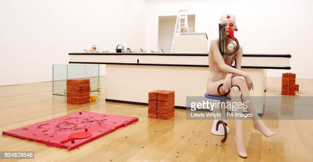 Cathy Wilkes' work called 'I Give You All My Money 2008' which features a supermarket checkout and a female mannequin sat on a toilet with with...