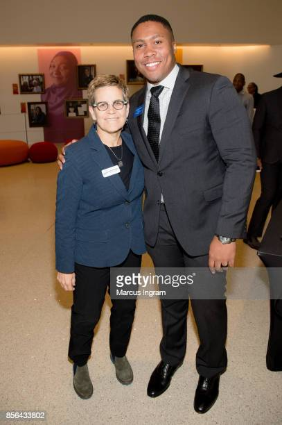 Cathy Woolard and Josh McNair attend The Royal Brunch at Center For Civil Human Rights on October 1 2017 in Atlanta Georgia