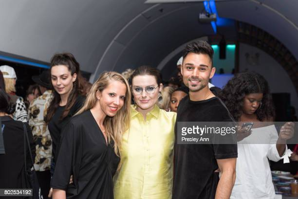 Catie Mare and James Tuffin attend MAC Celebrates the Winner of the CFDA/Vogue Fashion Fund Capsule Collection CHROMAT at Maru Karaoke Lounge on June...