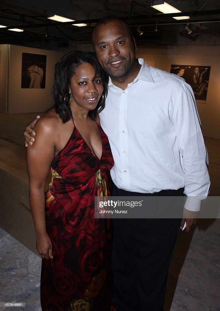 Catrice Austin and Londell McMillan attend Rocawear's 10th Anniversary party at the Rocawear Showroom on August 10, 2009 in New York City.