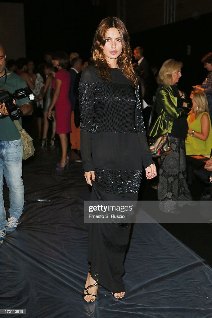 Catrinel Marlon attends the Jean Paul Gaultier Couture fashion show as part of AltaRoma AltaModa Fashion Week Autumn/Winter 2013 on July 7, 2013 in Rome, Italy.