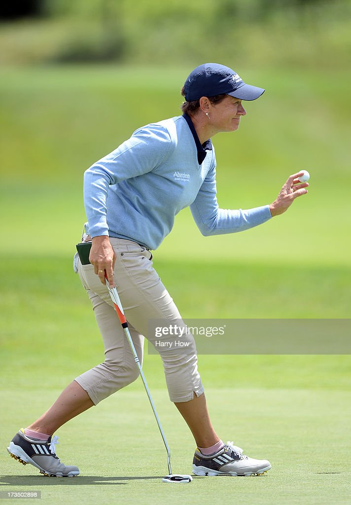 <a gi-track='captionPersonalityLinkClicked' href=/galleries/search?phrase=Catriona+Matthew&family=editorial&specificpeople=215267 ng-click='$event.stopPropagation()'>Catriona Matthew</a> of Scotland to finish eight under par during round one of the Manulife Financial LPGA Classic at the Grey Silo Golf Course on July 11, 2013 in Waterloo, Canada.