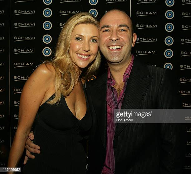 Catriona Rowntree and Bruno Schiavi during Schiavi Teams Up with Fashion Targets Breast Cancer Shoe Launch at GPO Martin Place in Sydney New South...