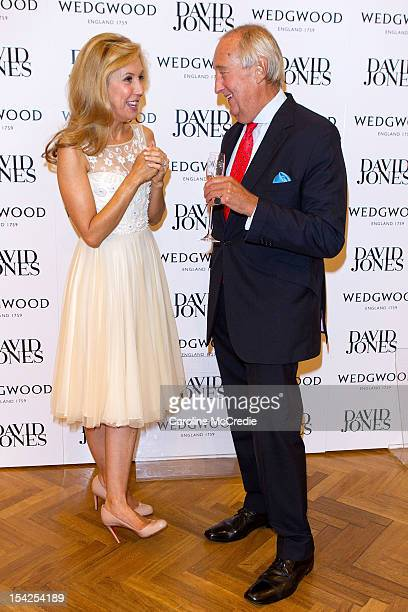 Catriona Rowntree and Lord Wedgwood attend the David Jones High Tea October 17 2012 in Sydney Australia