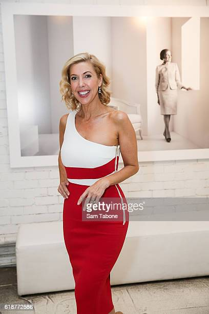 Catriona Rowntree arrives ahead of Lisa Wilkinson's 'Women of Influence' photographic exhibition at SmartArtz Gallery on October 28 2016 in Melbourne...