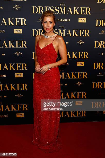 Catriona Rowntree arrives ahead of the Australian premiere of 'The Dressmaker' on October 18 2015 in Melbourne Australia
