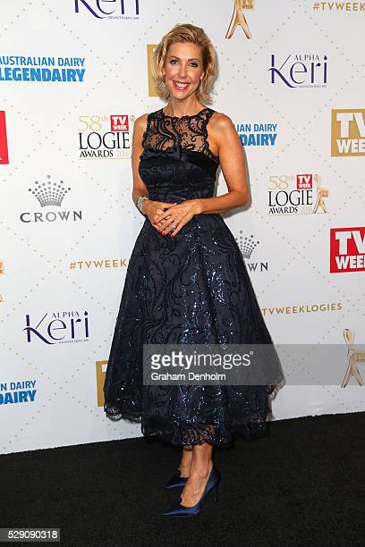 Catriona Rowntree arrives at the 58th Annual Logie Awards at Crown Palladium on May 8 2016 in Melbourne Australia