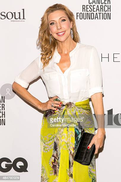 Catriona Rowntree arrives at the ORCF White Style At Quay on April 14 2014 in Sydney Australia Witchery are launching a white shirt collection...