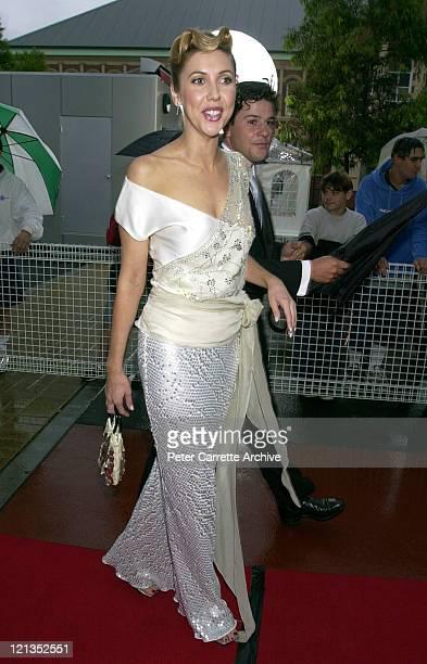 Catriona Rowntree arrives for the 2000 Emirates AFI Awards at Fox Studios on November 19 2000 in Sydney Australia