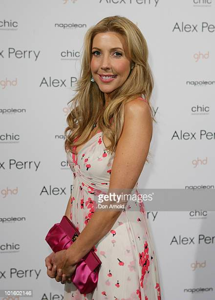 Catriona Rowntree attends the Alex Perry show on the second day of Rosemount Australian Fashion Week Spring/Summer 2010/11 offsite at Fox Studios on...