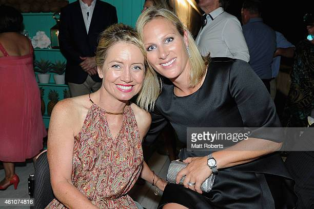 Catriona Williams and Zara Phillips attend the Opening night event for Magic Millions Raceday on January 6 2015 on the Gold Coast Australia