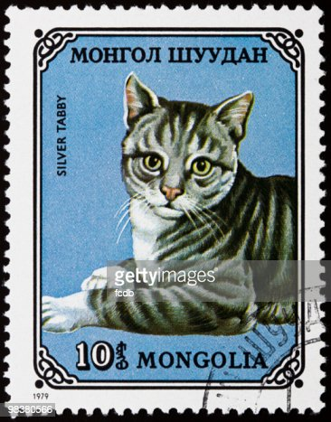 Cats stamp : Stock Photo