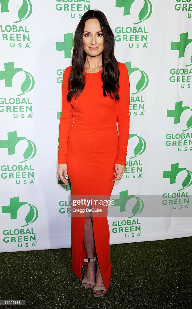 Catt Sadler arrives at Global Green USA's 10th Annual Pre-Oscar party at Avalon on February 20, 2013 in Hollywood, California.