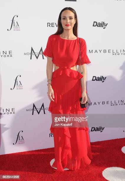 Catt Sadler arrives at the Daily Front Row's 3rd Annual Fashion Los Angeles Awards at the Sunset Tower Hotel on April 2 2017 in West Hollywood...