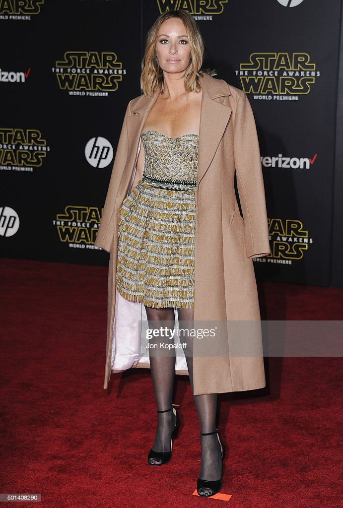 Catt Sadler arrives at the Los Angeles Premiere 'Star Wars The Force Awakens' on December 14 2015 in Hollywood California