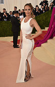 Catt Sadler attends the 'Manus x Machina Fashion In An Age Of Technology' Costume Institute Gala at Metropolitan Museum of Art on May 2 2016 in New...