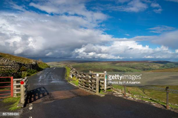 Cattle grid on the Buttertubs Pass, North Yorkshire, England