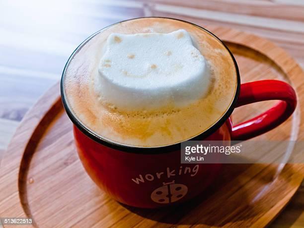 Catty latte art