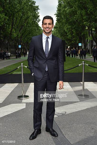 Caua Reymond attends the Giorgio Armani 40th Anniversary Silos Opening And Cocktail Reception on April 30 2015 in Milan Italy