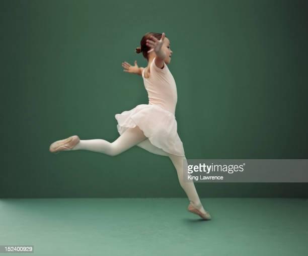 Caucasian ballerina dancing