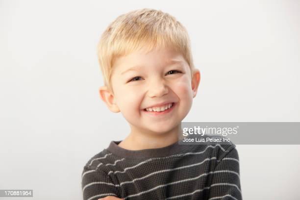 Caucasian boy smiling