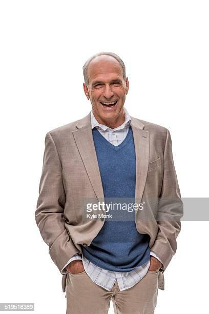 Caucasian businessman smiling