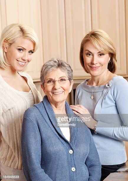 Caucasian Family Portrait