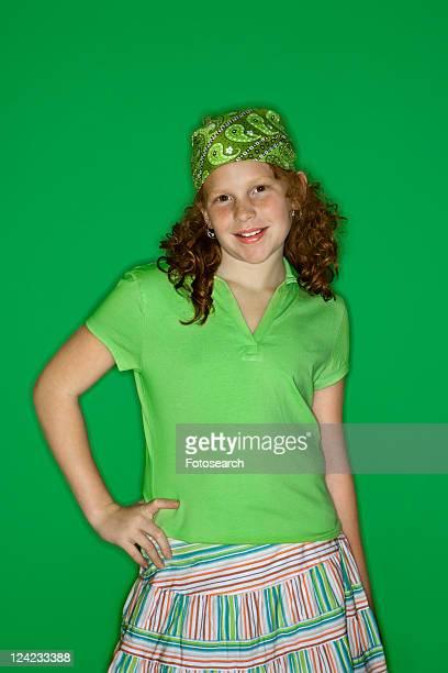 Caucasian female child portrait.
