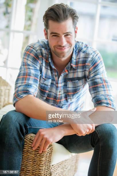 Caucasian man smiling