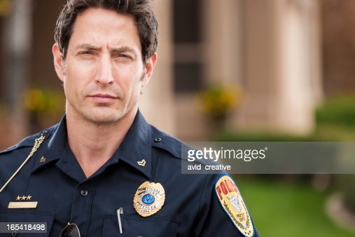 Caucasian Police Officer Portrait