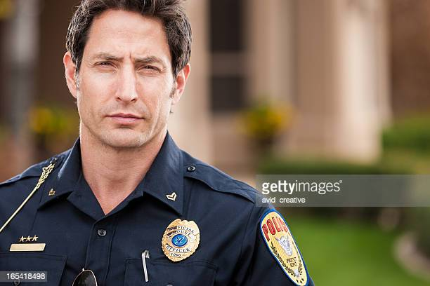 Caucasian Police Officer Portrait